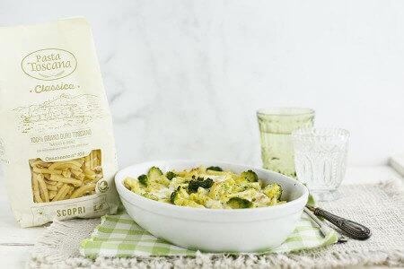 Casarecce gratinate con broccoli e stracchino