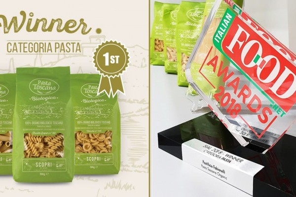 Organic Pasta Toscana wins the Italian Food Awards 2018