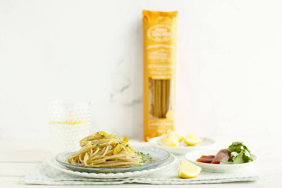 Spaghetti with lemon and bottarga