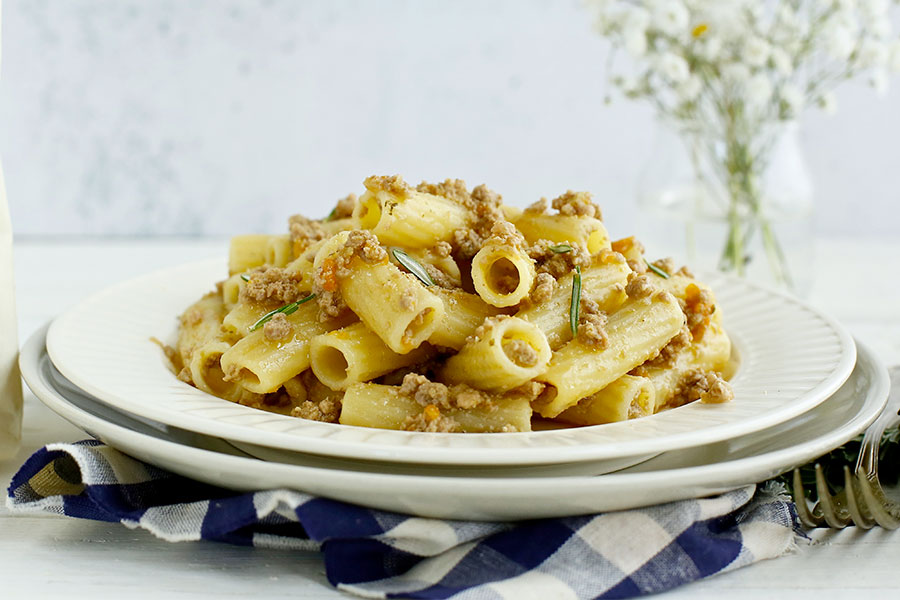 Tortiglioni with Chianina meat sauce